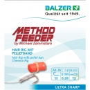 Balzer Method Feeder Fertighaken Hair Rig mit Pelletband...