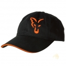Fox Baseball Cap Black/Orange