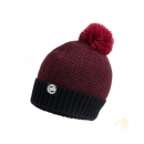 Fox Chunk Burgundy Black Bobble