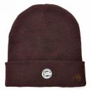 Fox Chunk Burgundy / Black Marl Beanie