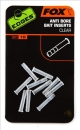 Fox Edges Anti Bore Bait Inserts Clear 10 Stk.