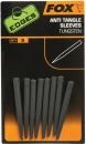Fox Edges Anti Tangle Sleeves Tungsten 8 Stk.