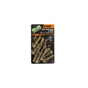 Fox Edges Slik Lead Clips & Pegs Size10 - 10 Stk.