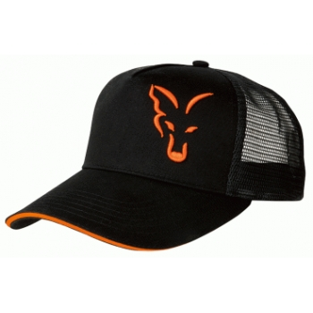 Fox Trucker Cap Black Orange
