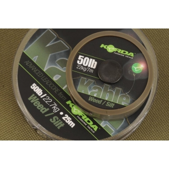 Korda Kable Advaced Leadcore Weed / Silt 50lb - 25m