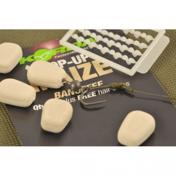 Korda Pop-Up Maize Banoffee White + Free Hair Stops 10 Stk.